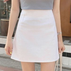 Express a line mini skirt